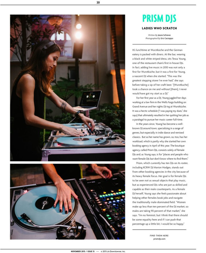 DJ Tessa LA Downtowner